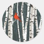 Birch Trees Christmas Tree Stickers
