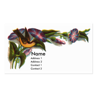 Bird Amid Morning Glories Victorian Pack Of Standard Business Cards