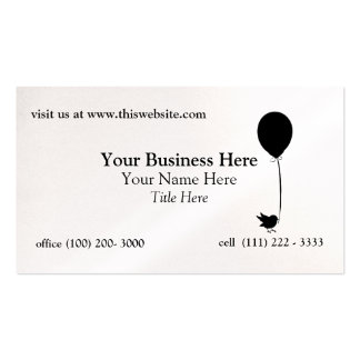 Bird with Balloon Pack Of Standard Business Cards