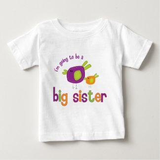 birdie big sister to be tee shirt