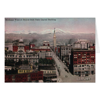Bird's Eye View of Denver, CO in Early 1900's Greeting Card
