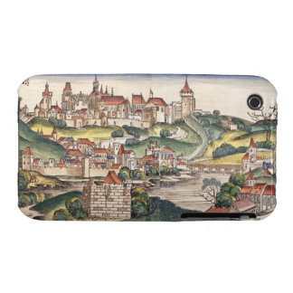 Bird's Eye View of Prague from the Nuremberg Chron iPhone 3 Case