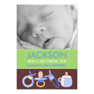 Birth Announcements for a Baby Boy