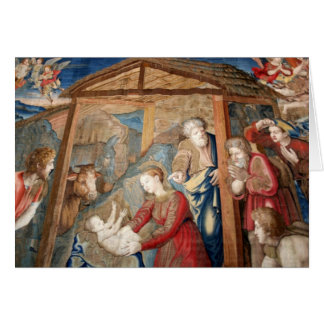 Birth of Christ Tapestry detail Greeting Card