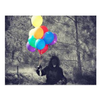 birthday balloons ape postcard