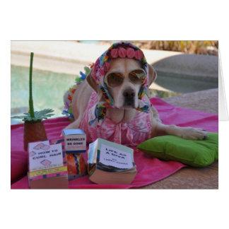Birthday card with dog photo
