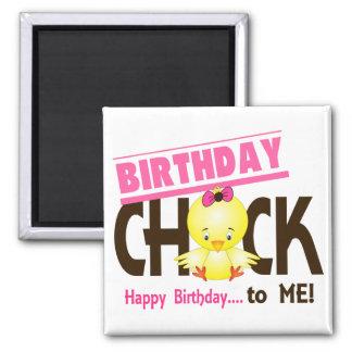 Birthday Chick 1 Square Magnet