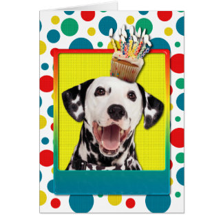 Birthday Cupcake - Dalmatian Greeting Card