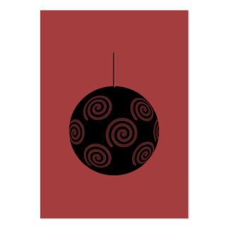 Black and Burgundy Red Christmas Bauble. Pack Of Chubby Business Cards