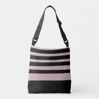 Black and Pink Abstract Cute Modern Trendy Pattern Tote Bag