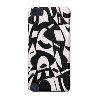 Black and White abstract art iPod case
