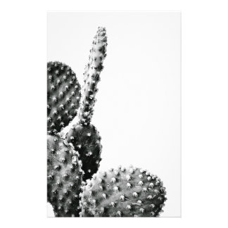 Black and White cactus black and blank Personalized Stationery