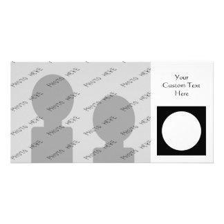 Black and White Circle, Simple Geometric Design. Customised Photo Card