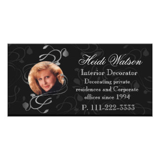 Black and White Elegant Photo Business Cards Photo Cards