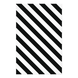 Black and White Geometric Line Pattern Stationery Paper