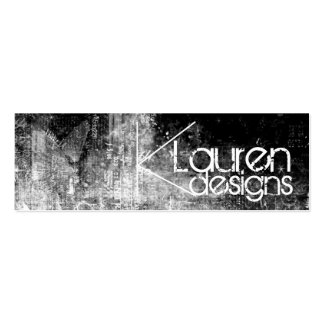 black and white grunge skinny business card