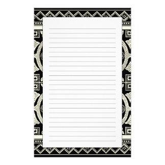 Black and White Mandala Motif by Vision Studio Stationery Design
