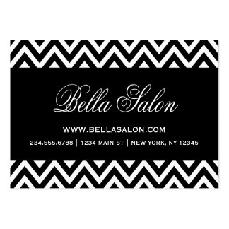 Black and White Modern Chevron Stripes Pack Of Chubby Business Cards
