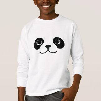 Black And White Panda Cute Animal Face Design Tee Shirts