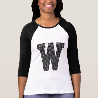 Black and White Polka Dot Monogram T Shirts