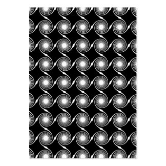 Black and White Spirals Pattern. Pack Of Chubby Business Cards