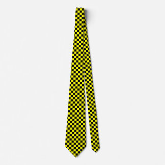 Black and Yellow Checked Tie
