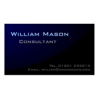 Black Blue Curved, Professional Business Card