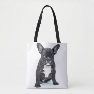 Black Bulldog all-over tote / bag Tote Bag