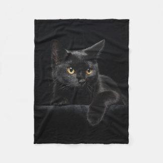 Black Cat Small Fleece Blanket
