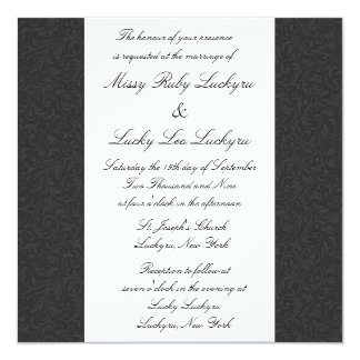 Black Filigree Invitation