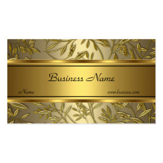 Black Gold Bronze Floral Elegant Business Card