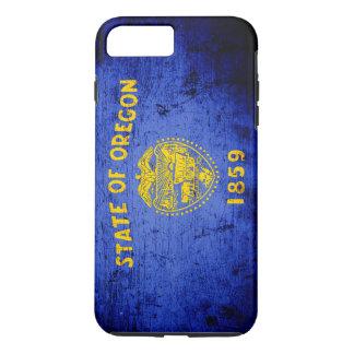 Black Grunge Oregon State Flag iPhone 7 Plus Case