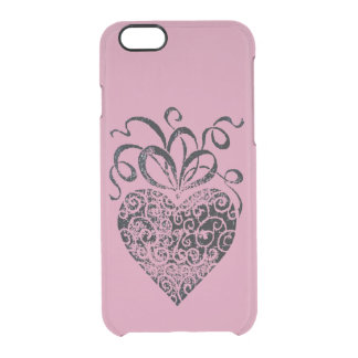 Black Heart iPhone 6 Clearly™ Deflector Case