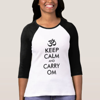 Black Keep Calm and Carry Om Shirts