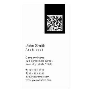 Black Label QR Code Architect Business Card