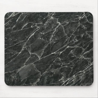 Black Marble Mouse Pad