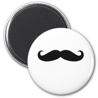 Black Mustache or Black Moustache for Fun Gifts 6 Cm Round Magnet