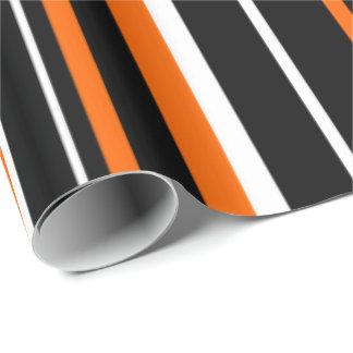 Black, Orange, White Barcode Stripe