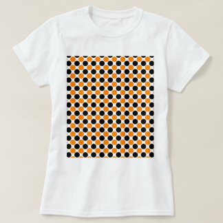 Black Orange White Polka Dots T-shirts