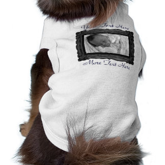 Black Photo Frame Pet Clothing