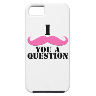 Black Pink I Moustache You A Question Fun iPhone 5 Case