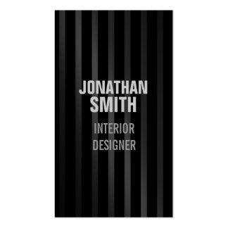 Black Suit Stripes Business Card for Men