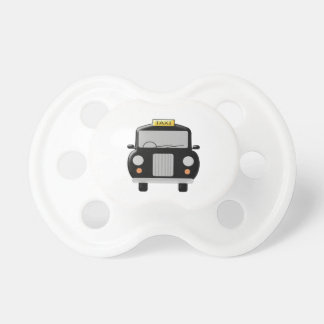 Black Taxi Design Baby Pacifiers