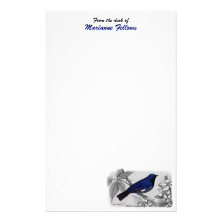 Black Throated Blue Warbler Customizable Customized Stationery