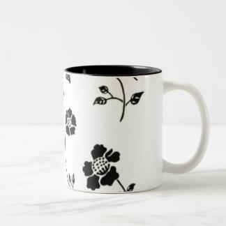 Black & White Floral Mug