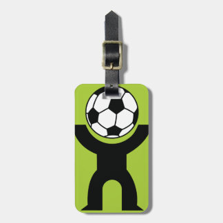 BLACK,WHITE GREEN SOCCER BALL HEAD SPORTS LOGO ICO TAG FOR LUGGAGE
