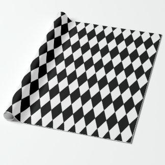 Black White Harlequin Pattern