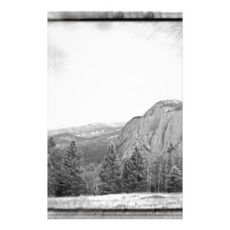 Black White Mountain Tree Southwest Scenery Custom Stationery