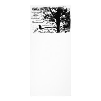 Black & White Nevermore Raven Silhouette Rack Card Design
