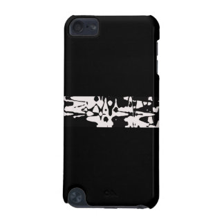 Black, White splash abstract art iPod case